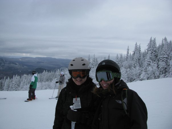 Barbie and I on the mountain.