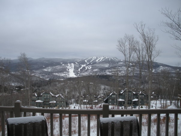 View of Mt. Tremblant from the chalet.